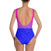 Bisexual Pride One-Piece Swimsuit -LGBTQ, swimwear, HEED THE HUM