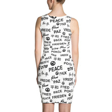 Peace All-over Print Cut & Sew Dress