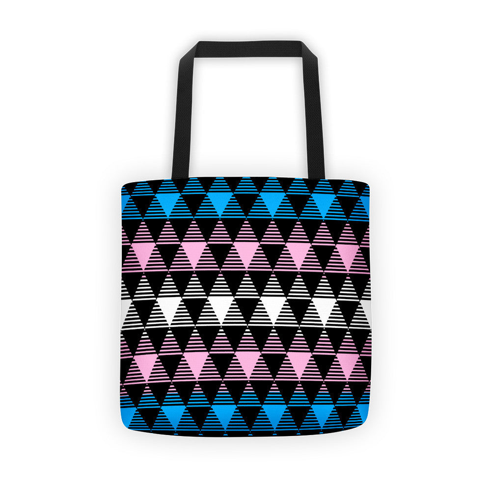 Trans Flag Tote bag, Tote Bag, HEED THE HUM