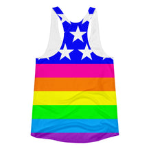 Queer LGBTQ Woman's Cut Racerback Tank Top, Shirts, HEED THE HUM