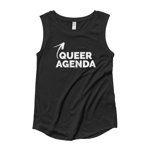 Queer Agenda Woman's Cut Cap Sleeve T-Shirt, Shirts, HEED THE HUM