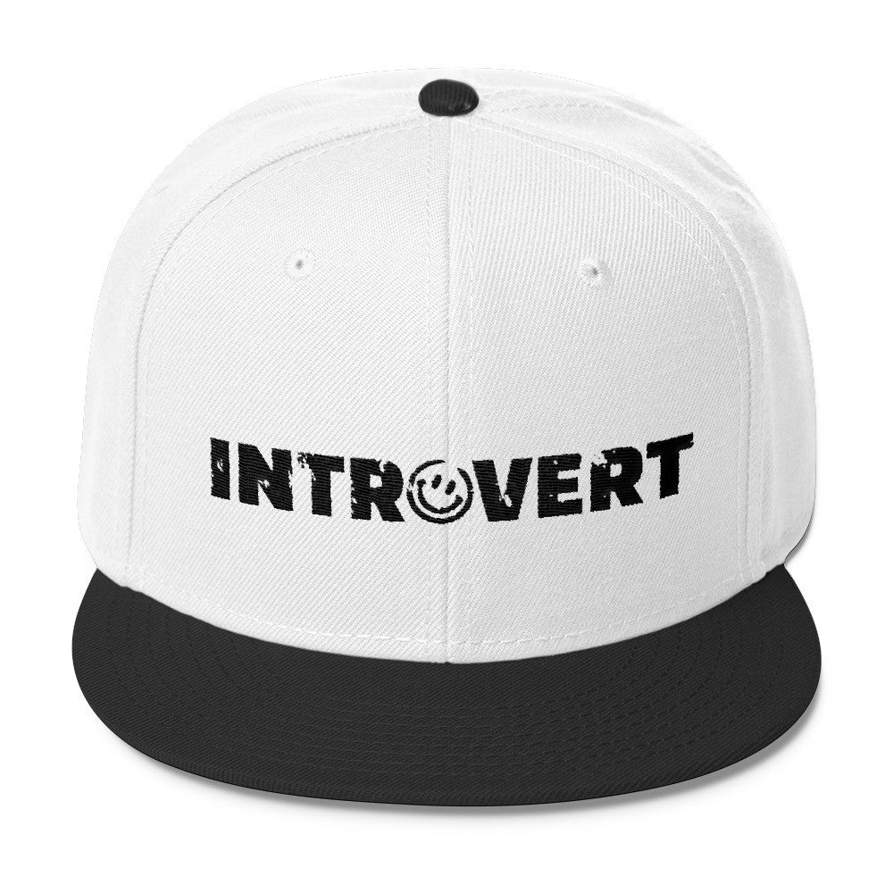 Introvert Wool Blend Snapback Hat