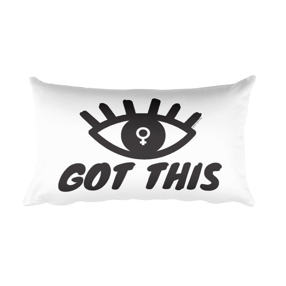 Eye Got This Feminist Rectangular Pillow, Pillow, HEED THE HUM