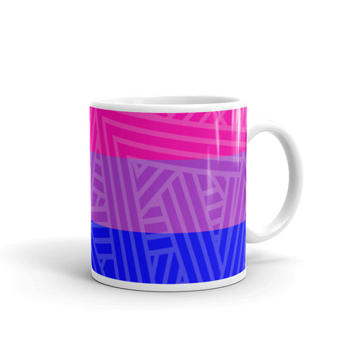 Bisexual Pride Flag Mug - LGBTQ, Mugs, HEED THE HUM
