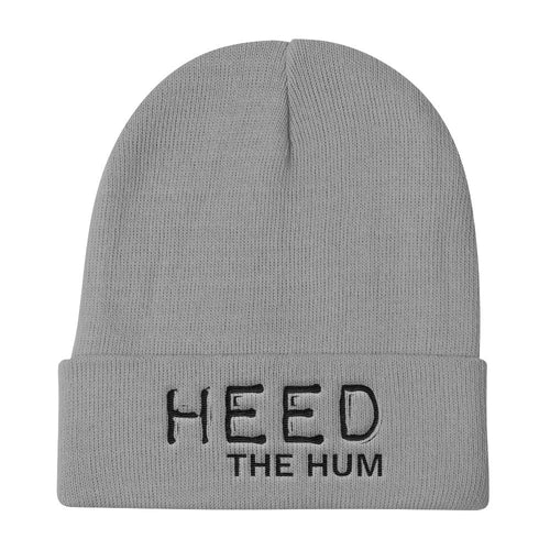 Heed The Hum Knit Beanie Hat, Hats, HEED THE HUM