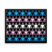 Trans Pride Flag Framed poster, Poster, HEED THE HUM