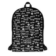 Peace Backpack, backpack, HEED THE HUM
