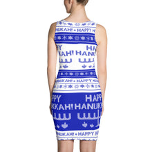 Happy Hanukkah Ugly Christmas Sweater Cut & Sew Dress, Dress, HEED THE HUM