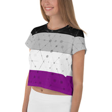 Asexual Flag All-Over Print Crop Top Tee, crop top, HEED THE HUM