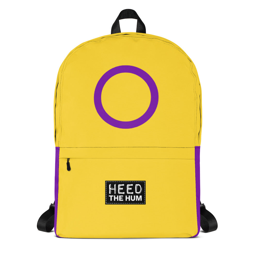 Intersex Pride Flag Backpack - LGBTQIA+, backpack, HEED THE HUM