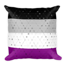 Asexual Flag Square Throw Pillow, Pillow, HEED THE HUM