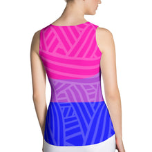 Bisexual Pride Flag Cut & Sew Tank Top (double-sided), Shirts, HEED THE HUM