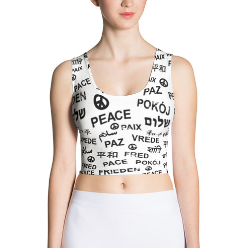 Peace All-over Print Cut & Sew Crop Top, Shirts, HEED THE HUM
