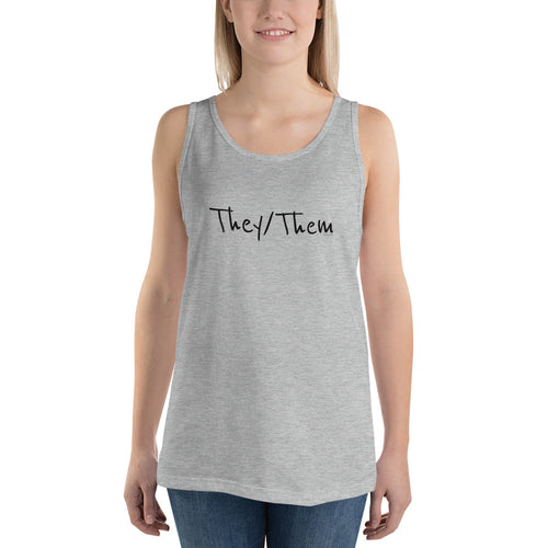 They/Them Unisex Trans Tank Top, Shirt, HEED THE HUM