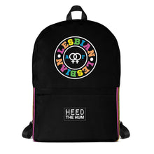 Lesbian AF Pride Backpack - LGBTQ, backpack, HEED THE HUM