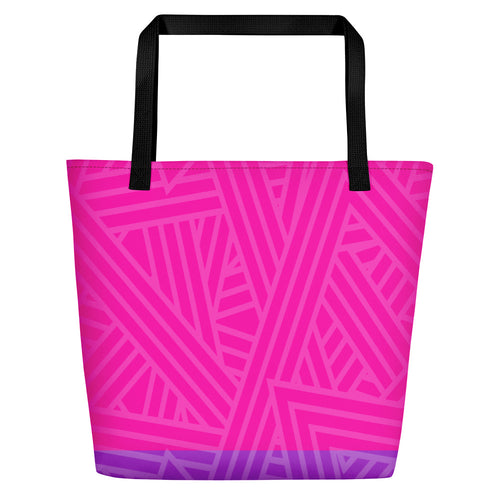 Bisexual Pride Flag Beach Bag - LGBTQ, Tote Bag, HEED THE HUM