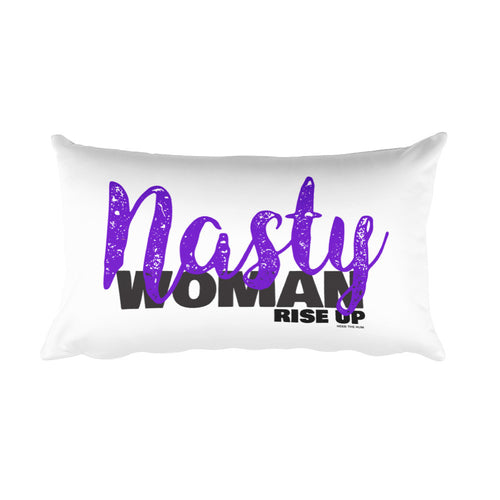 Nasty Woman Rise Up Rectangular Pillow, Pillow, HEED THE HUM