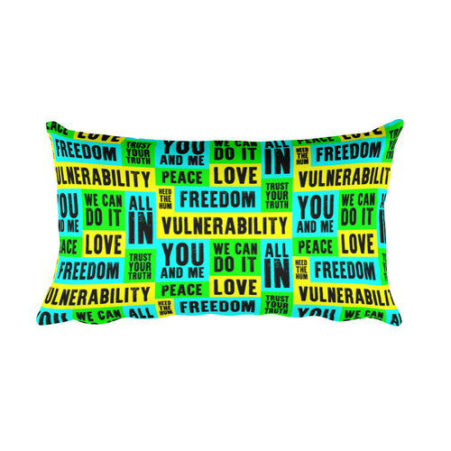 Vulnerability Rectangular Pillow, Pillow, HEED THE HUM