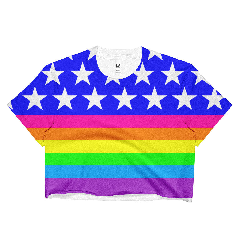 Queer LGBTQ Pride Flag Rainbow Crop Top, Shirts, HEED THE HUM