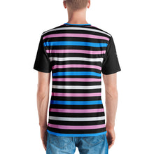 Trans Pride Flag Striped Men's V-neck T-shirt