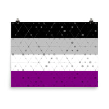 Asexual Flag Poster Art, Poster, HEED THE HUM