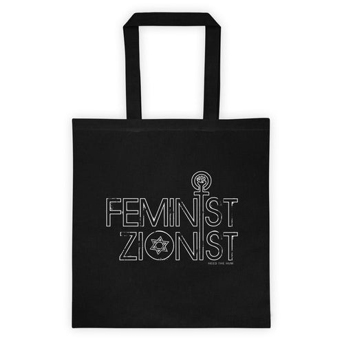 Feminist Zionist 6 oz Tote bag, Tote Bag, HEED THE HUM