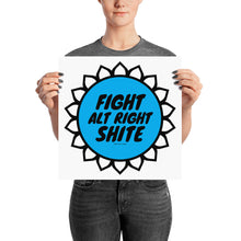 Alt Right Shite Blue Activist Poster, Poster, HEED THE HUM