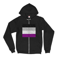Asexual Flag Hoodie Sweater Zip Up, Sweatshirt, HEED THE HUM