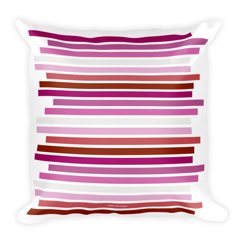 Lesbian Pride Flag Staggered Square Pillow
