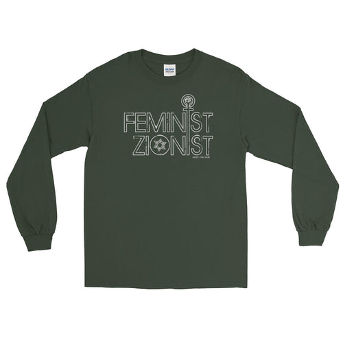 Feminist Zionist Long Sleeve Shirt, Shirts, HEED THE HUM