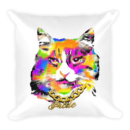 Pussy Pride Square Throw Pillow, Throw Pillow, HEED THE HUM