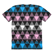 Trans Flag Woman's Cut T-Shirt, Shirts, HEED THE HUM