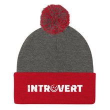 Introvert Pom Pom Knit Cap Hat, Hats, HEED THE HUM