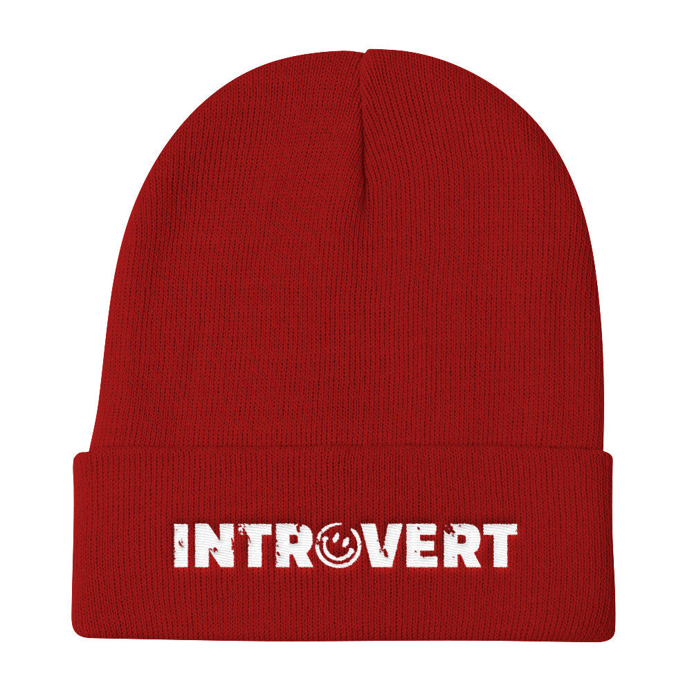 Introvert Knit Beanie Hat