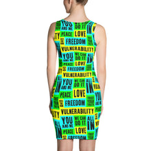 Vulnerability Sublimation Fitted Dress