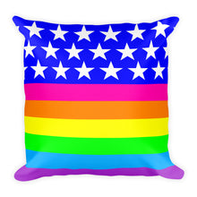 Queer Flag LGBTQ Pride Square Throw Pillow
