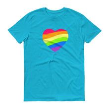 Rainbow Heart Unisex T-shirt, Shirts, HEED THE HUM
