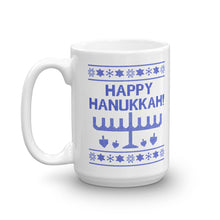 Happy Hanukkah Ugly Christmas Sweater Mug, Mug, HEED THE HUM
