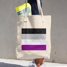 Asexual Flag Cotton Tote Bag, Tote Bag, HEED THE HUM