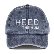 HEED THE HUM Hat - Vintage Cotton Twill Cap, , HEED THE HUM