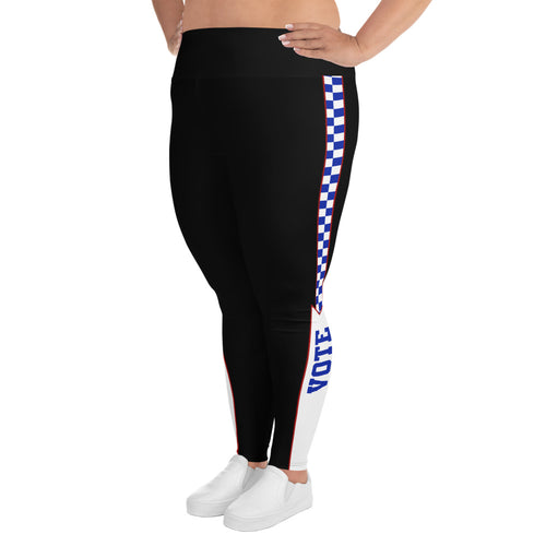 Race to the Vote  High Waisted All-Over Print Plus Size Leggings, Leggings, HEED THE HUM