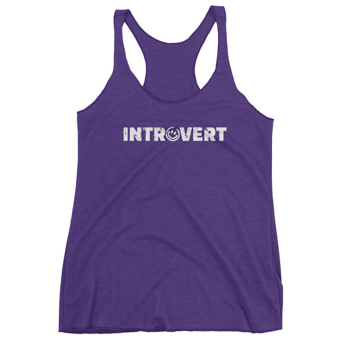 Introvert Smiley Women's Tank Top