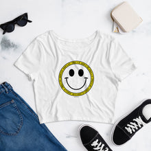 Introvert All Day White Crop Top Tee
