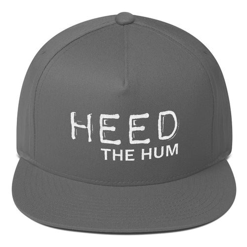 HEED THE HUM Flat Bill Cap Hat, Hats, HEED THE HUM