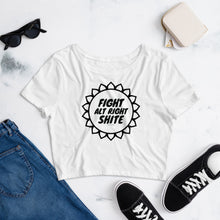 Fight Alt Right Shite! Crop Top T shirt