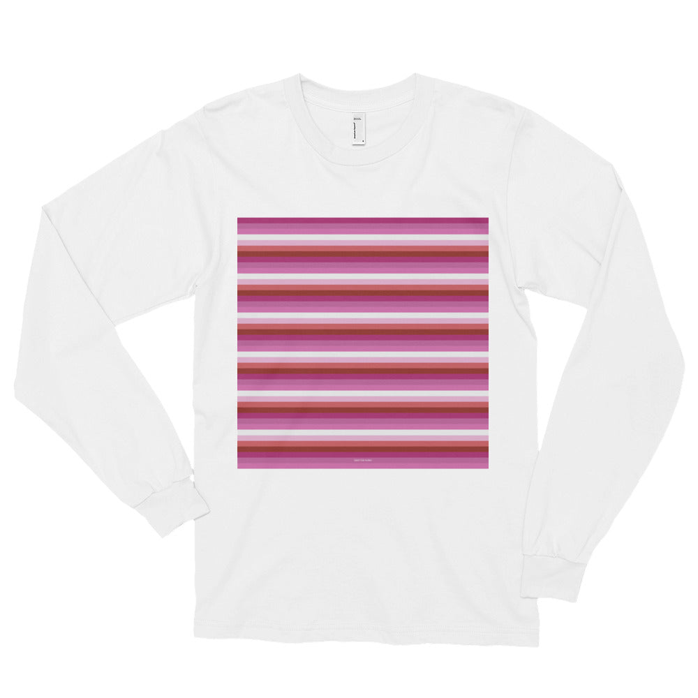 Lesbian Pride Flag Striped Long sleeve t-shirt (unisex), Shirts, HEED THE HUM