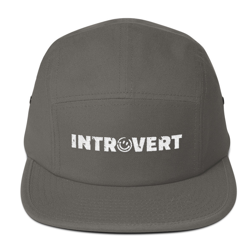 Introvert Five Panel Cap Hat, Hats, HEED THE HUM
