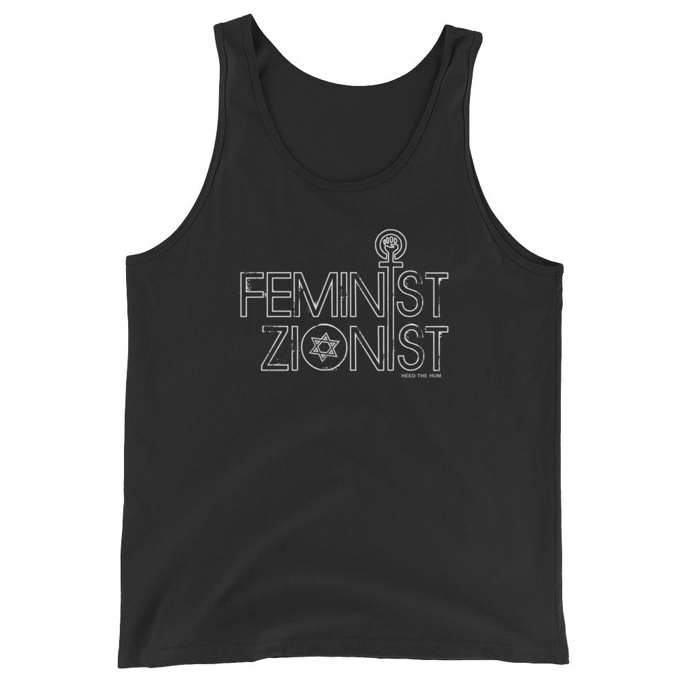 Feminist Zionist Unisex  Tank Top, Shirt, HEED THE HUM