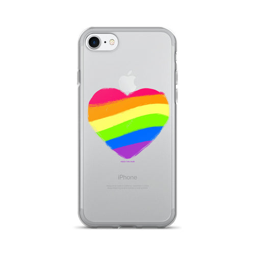 Rainbow Heart iPhone 7/7 Plus Case - Pride, Phone Case, HEED THE HUM