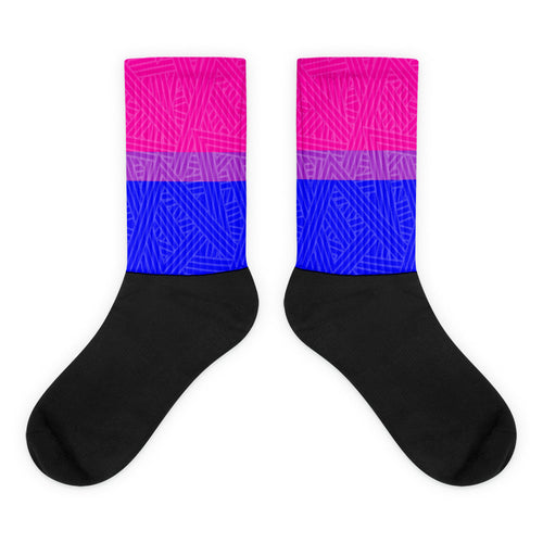 Bisexual Pride Flag Socks, Socks, HEED THE HUM